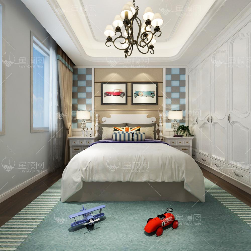 混搭儿童房23d模型免费下载
