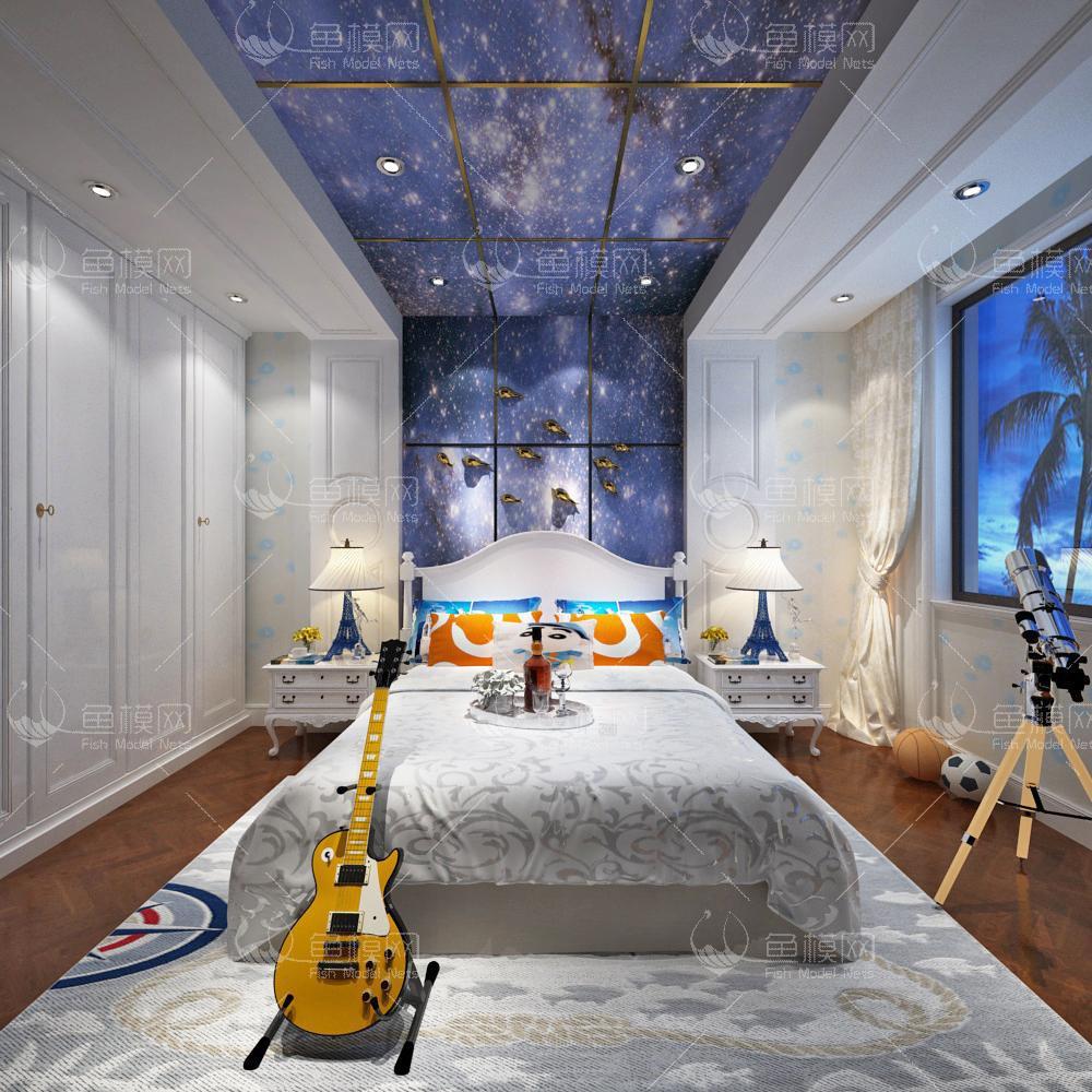 星空特色儿童房3d模型