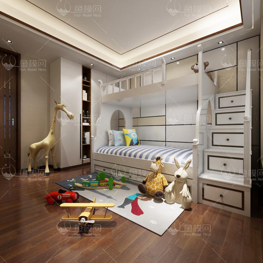 现代风格儿童房 (2)3d模型
