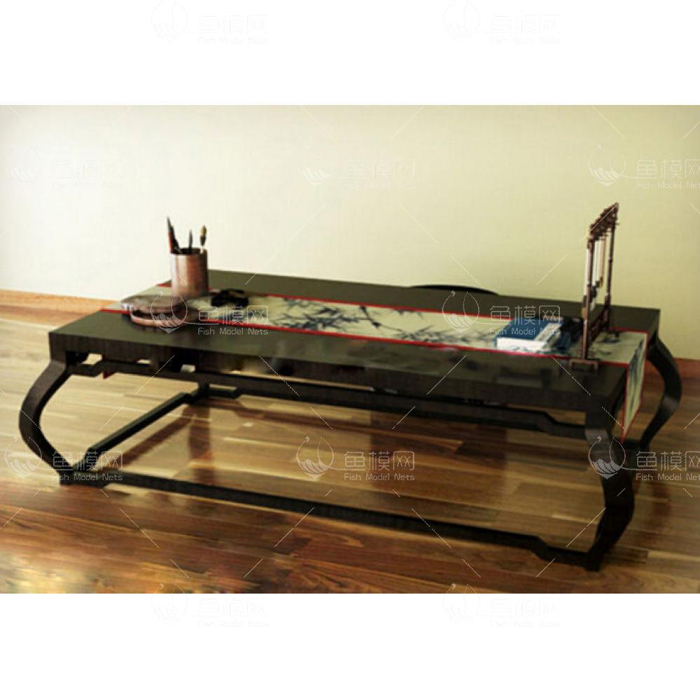 家具类桌台书桌中式台桌,模型ID:19401