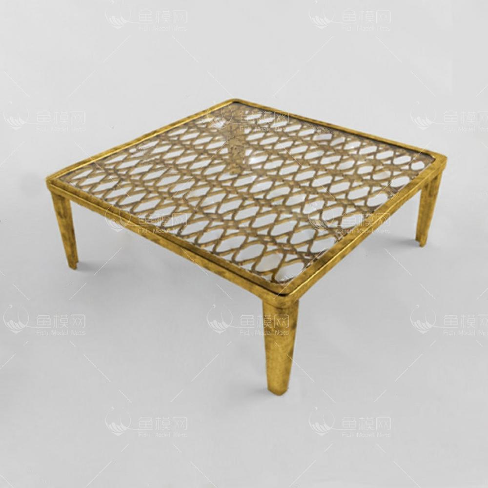 家具类桌台茶几金属质特色茶几,模型ID:19407