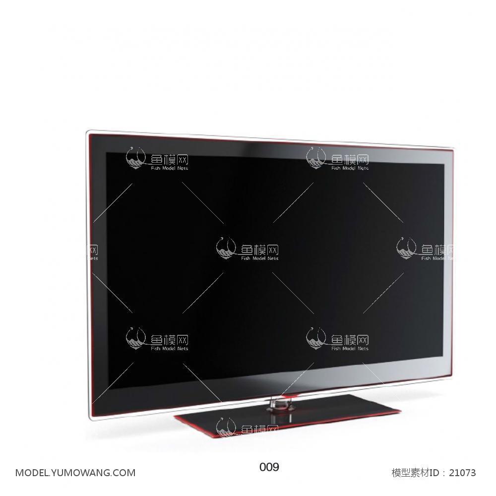 电器类电视机电视机显示器3d模型素材,模型id:21073