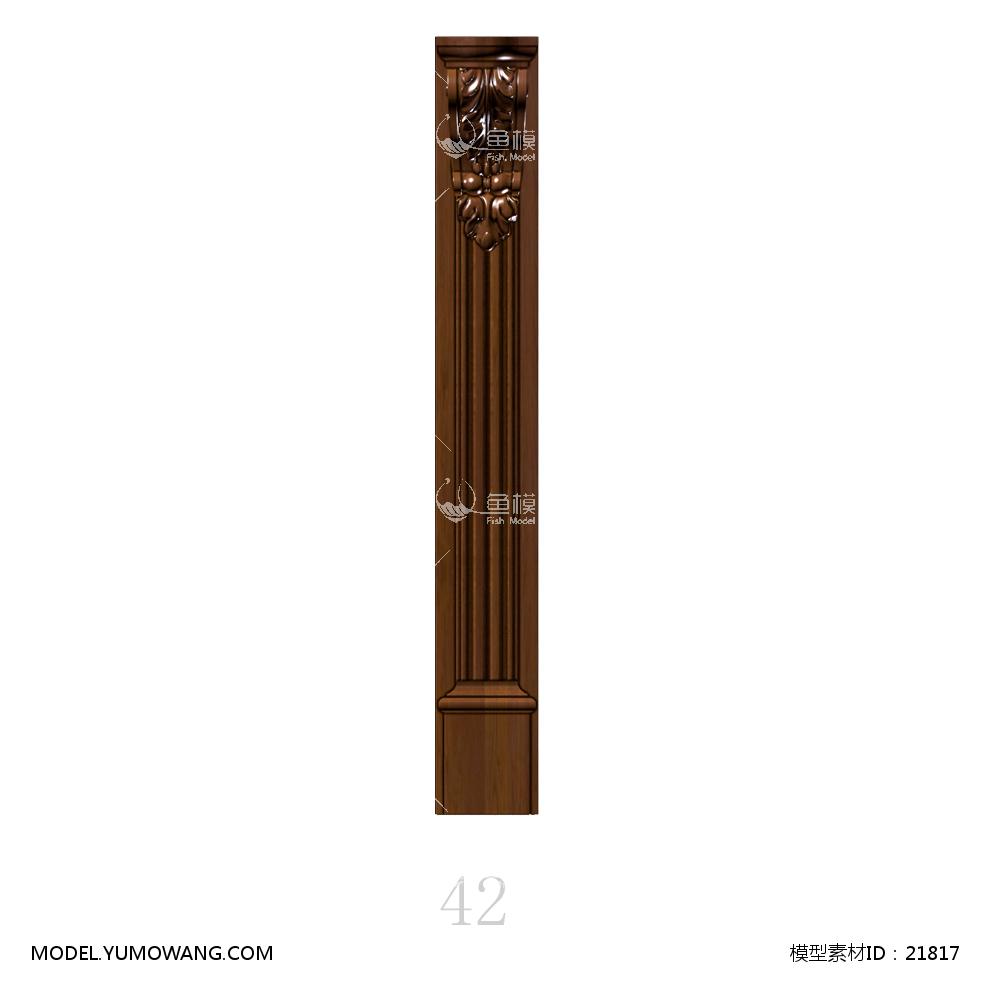 建模必备柱子装饰柱欧式3d实木罗马柱,模型id:21817