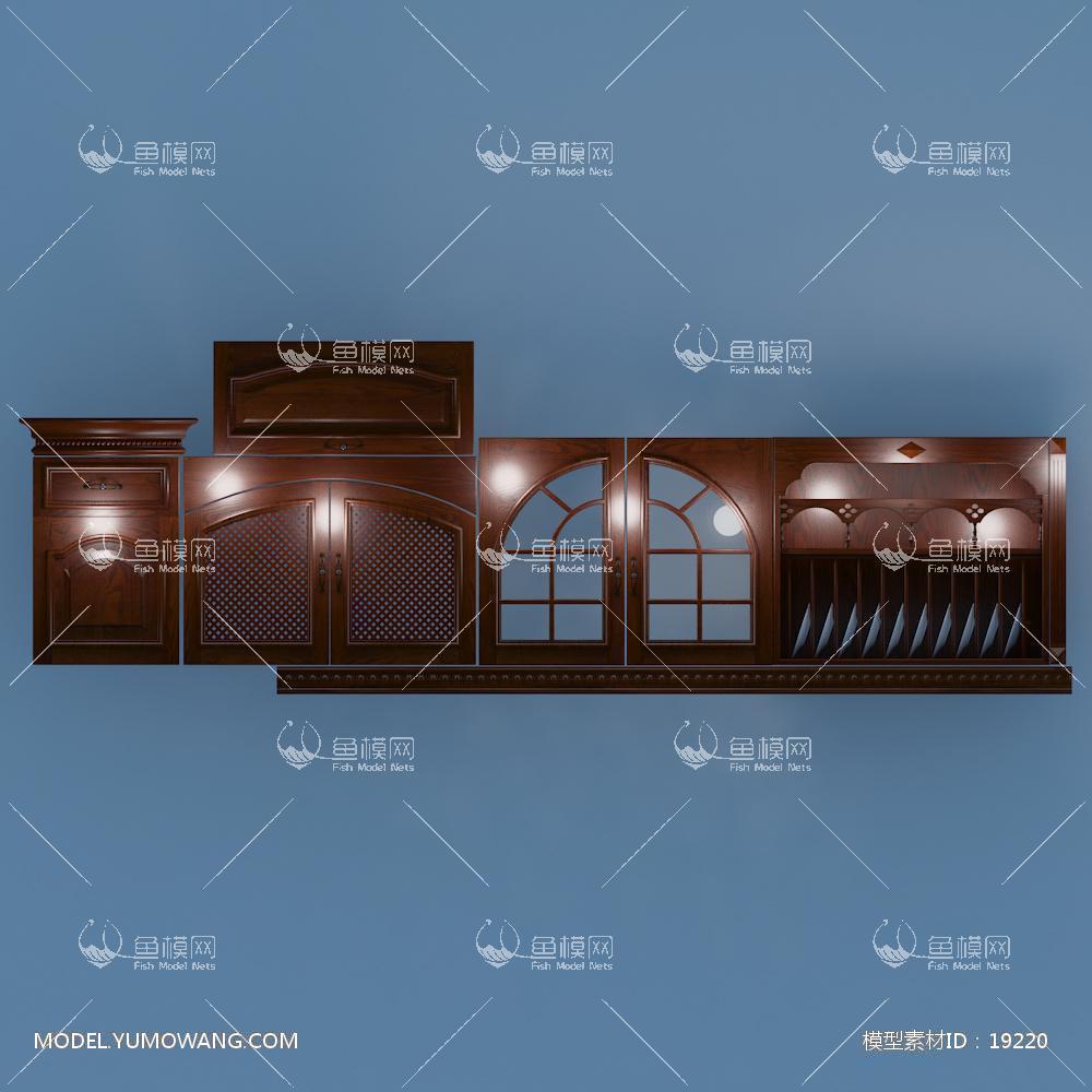 建模必备门板门型实木起线门板,拉手,网格门玻璃门3D模型素材,模型ID:19220
