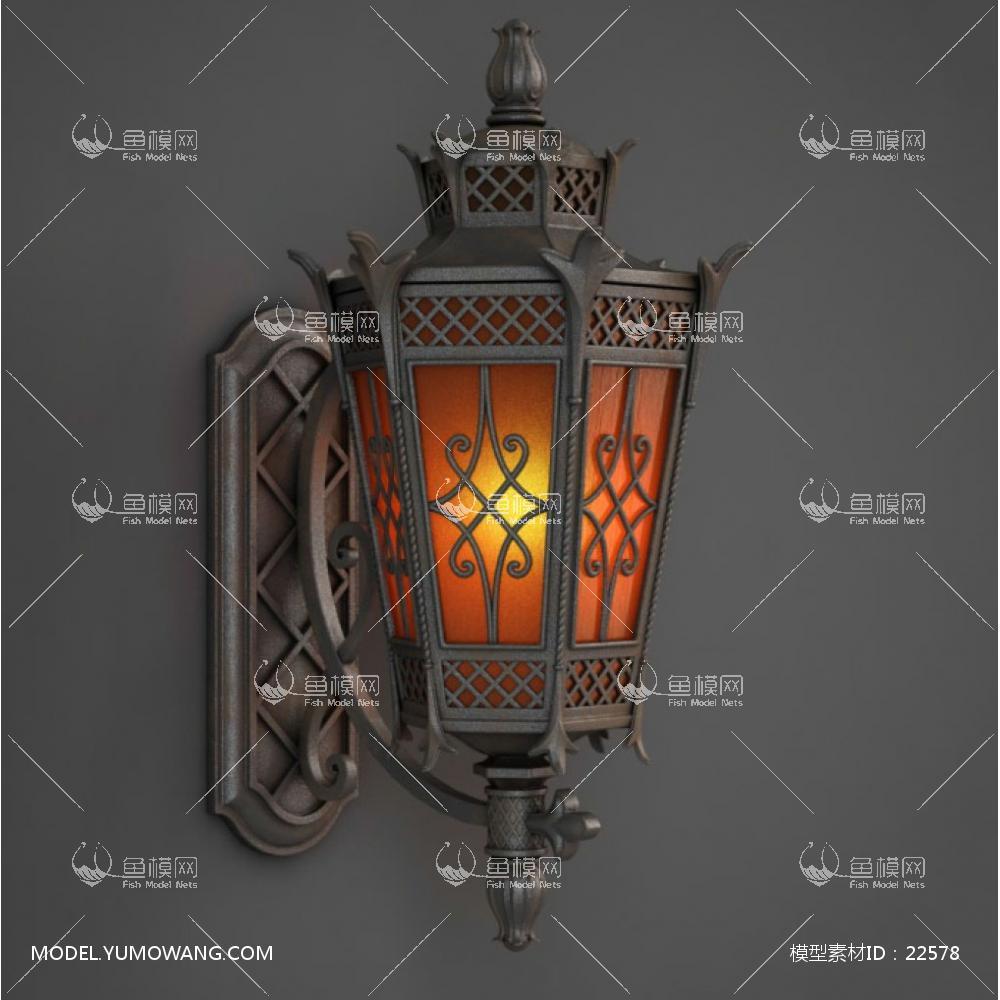 欧式复古风旧金属尖角室内外装饰壁灯 (2) id:22578