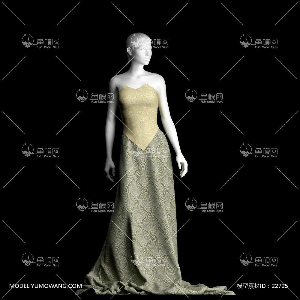 装饰类衣柜装饰衣服衣服模特3d模型 (3),模型id:22725