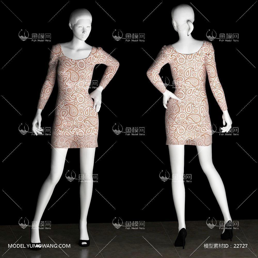 衣服模特 (5)3d模型 【id:22727】