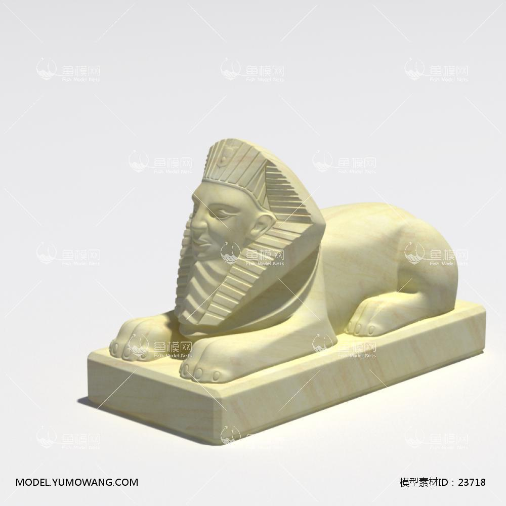 装饰类陈设饰品雕塑动物石膏雕塑模型 (21),模型id:23718