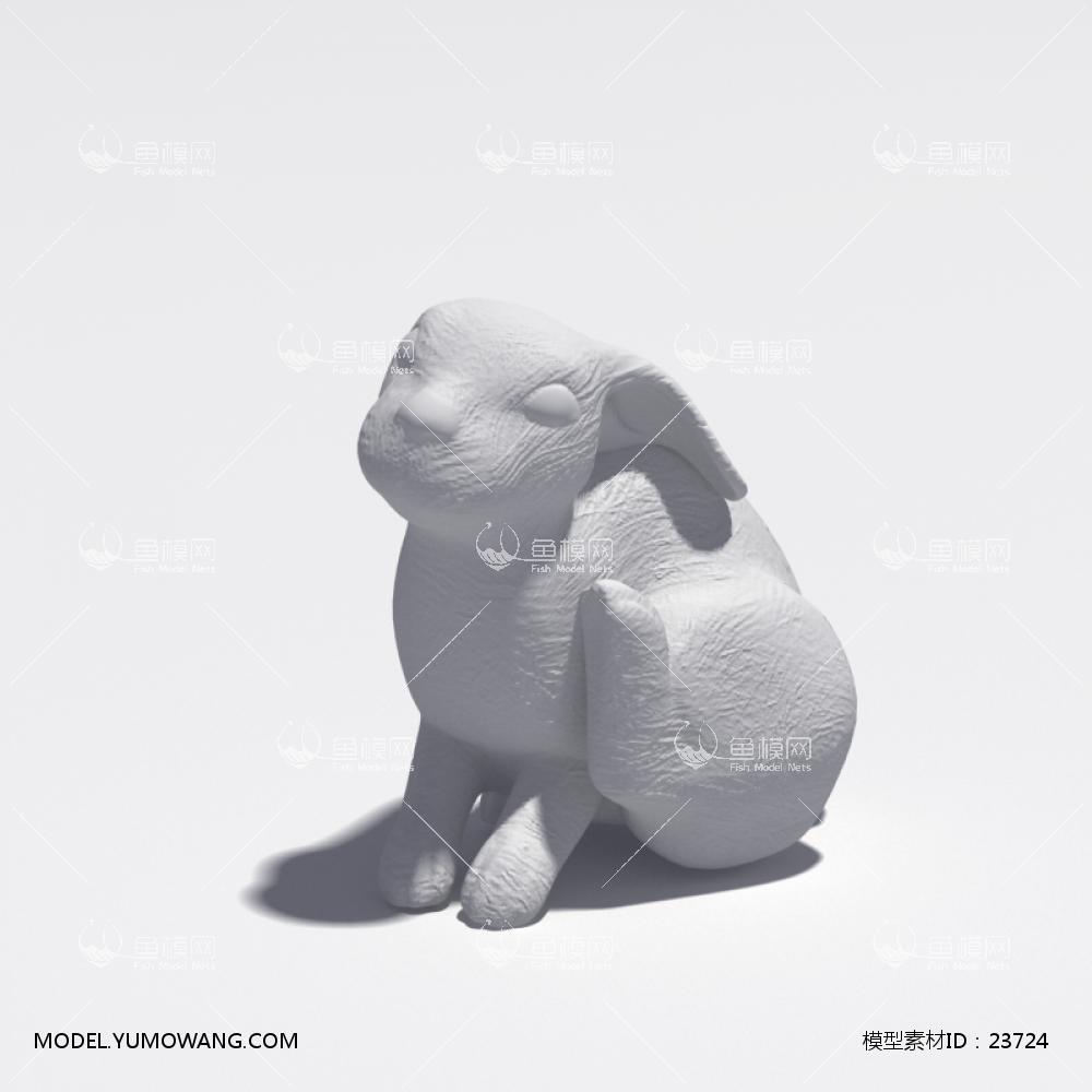 动物石膏雕塑 (10)3d模型 【id:23724】