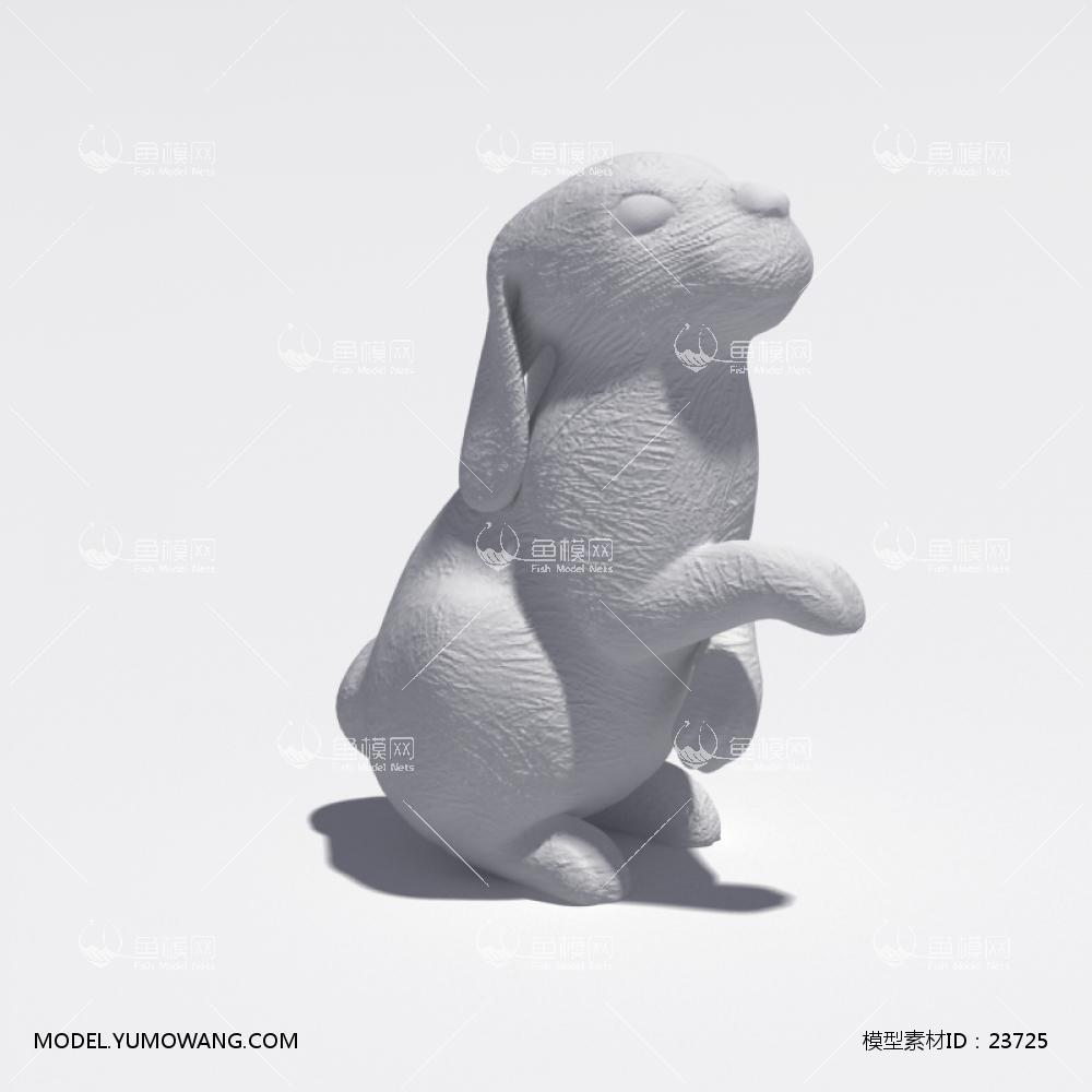 装饰类陈设饰品雕塑动物石膏雕塑模型 (11),模型id:23725