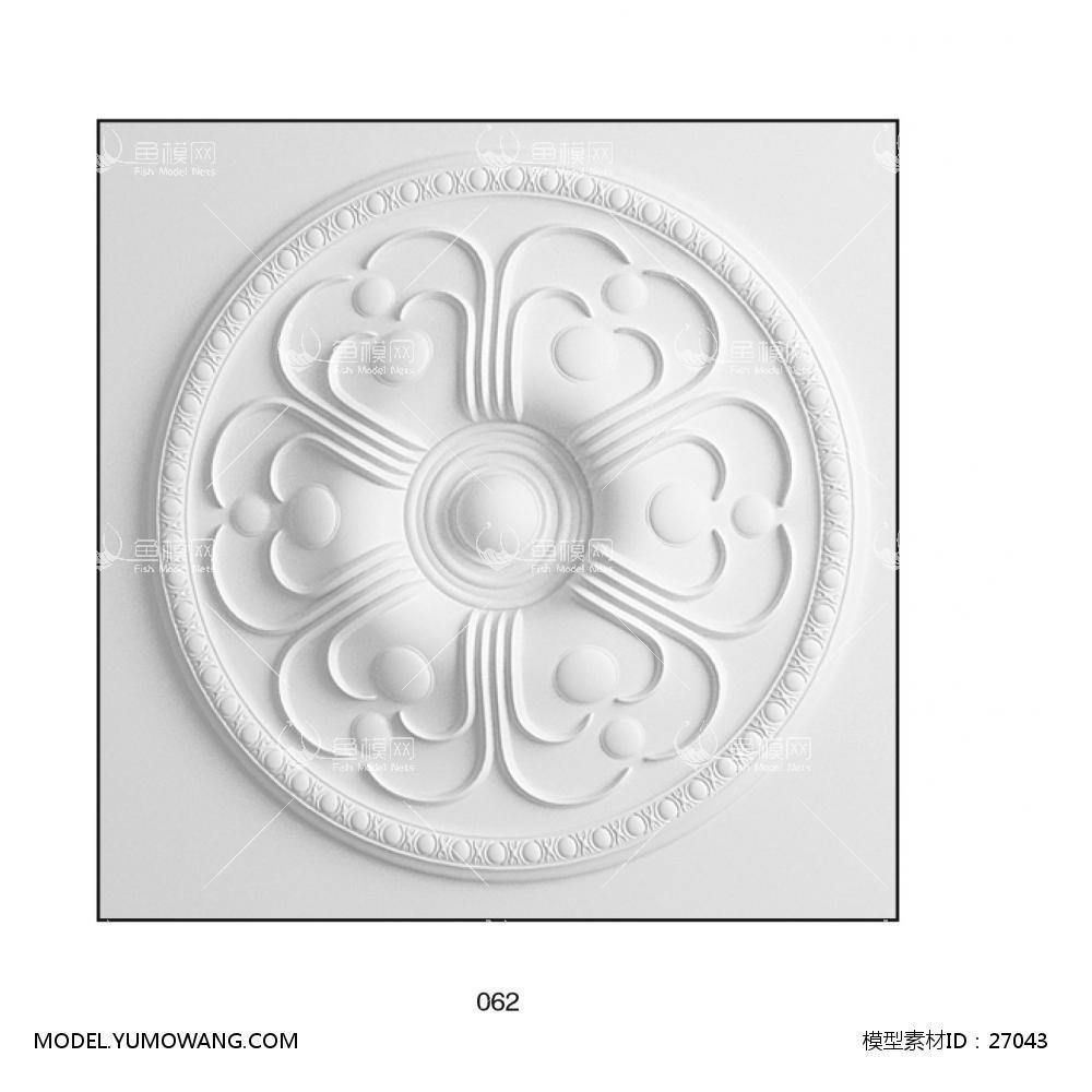 1 0 0 模型详情 素材名称:欧式石膏构件 (34) 素材大小:1.