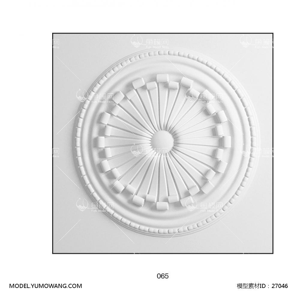 1 0 0 模型详情 素材名称:欧式石膏构件 (37) 素材大小:1.
