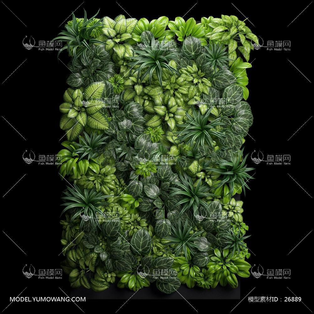 绿植背景墙 (2):id26889-植物类-其他--鱼模素材-鱼网