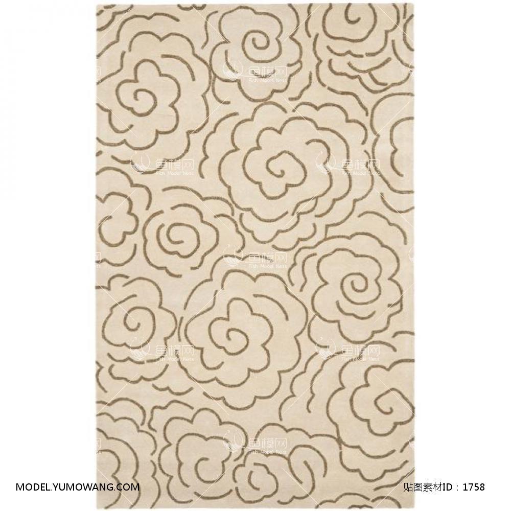 地毯欧式风格欧式地毯 (23),贴图id:1758