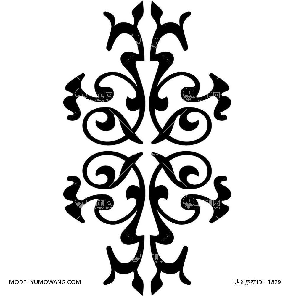 单体黑白 (10):id1829-凹凸黑白-其他黑白--鱼模素材