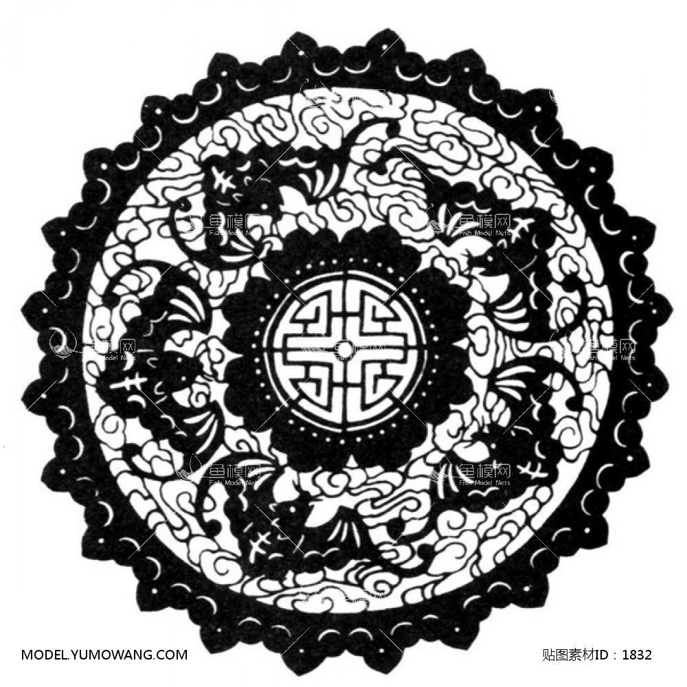 单体黑白 (13):id1832-凹凸黑白-其他黑白--鱼模素材