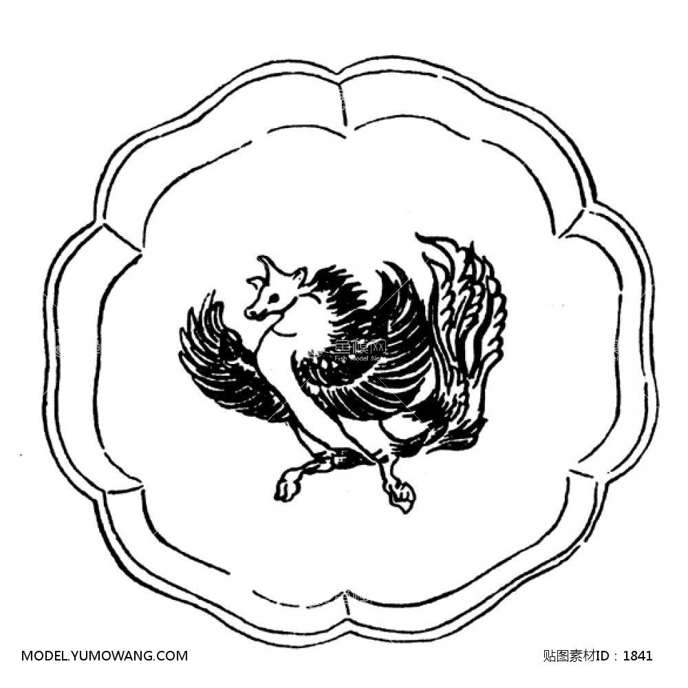单体黑白 (21):id1841-凹凸黑白-其他黑白--鱼模素材