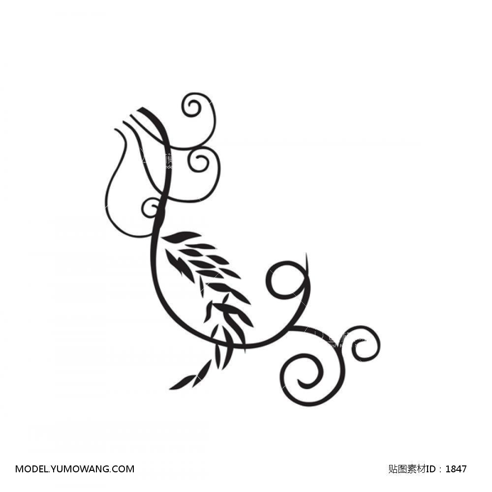 单体黑白 (5):id1847-凹凸黑白-其他黑白--鱼模素材