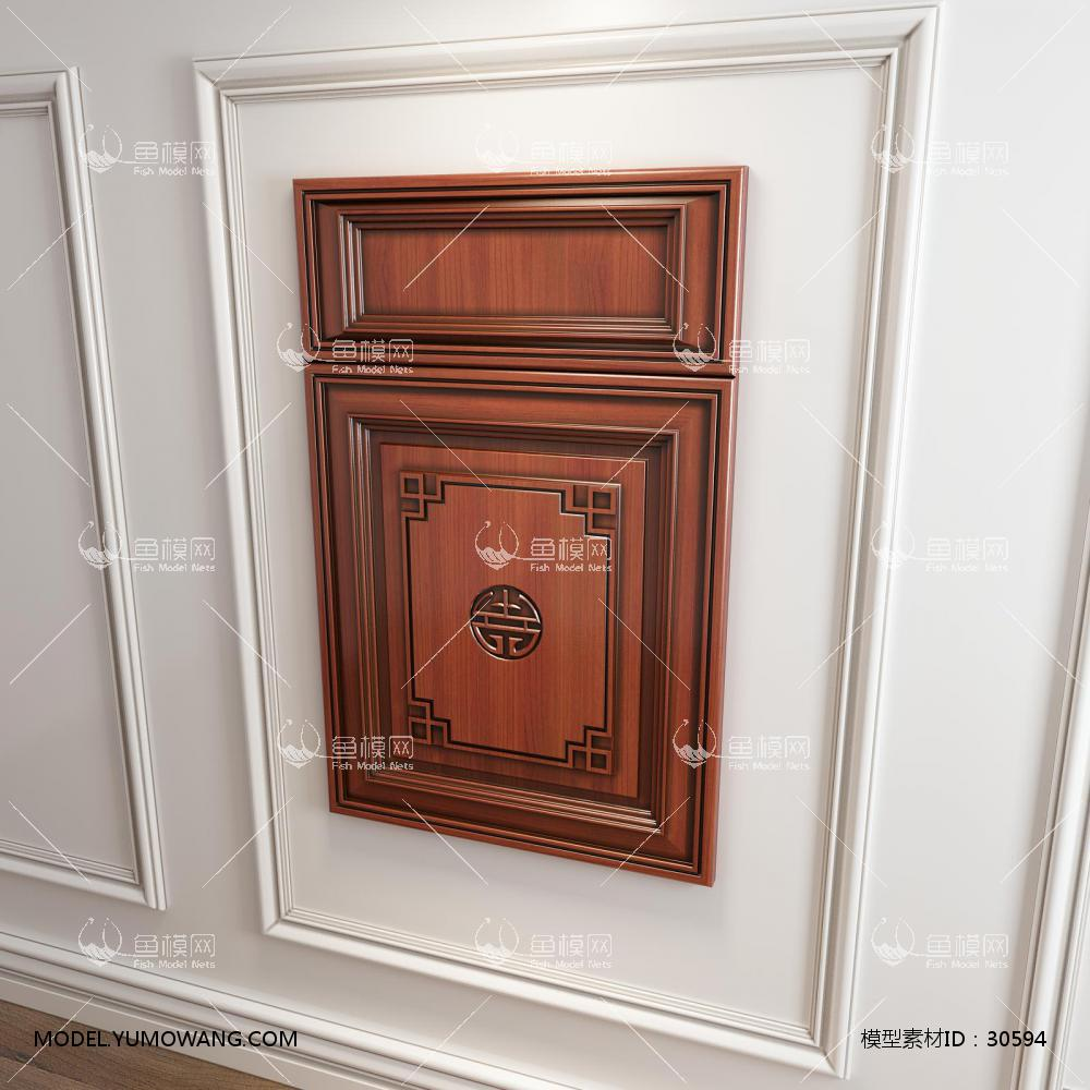 橱柜衣柜回字型中式门板门型3D模型下载-[ID]30594