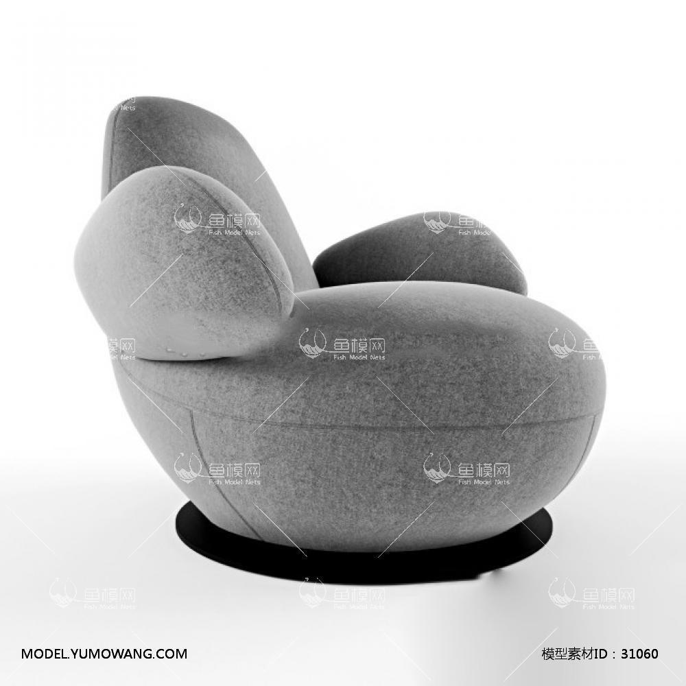 2 0 0 模型详情 素材名称:现代灰色布艺休闲沙发3d模型5 素材大小:2.