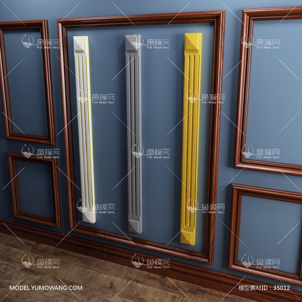 橱柜罗马柱3D模型下载-[ID]35012