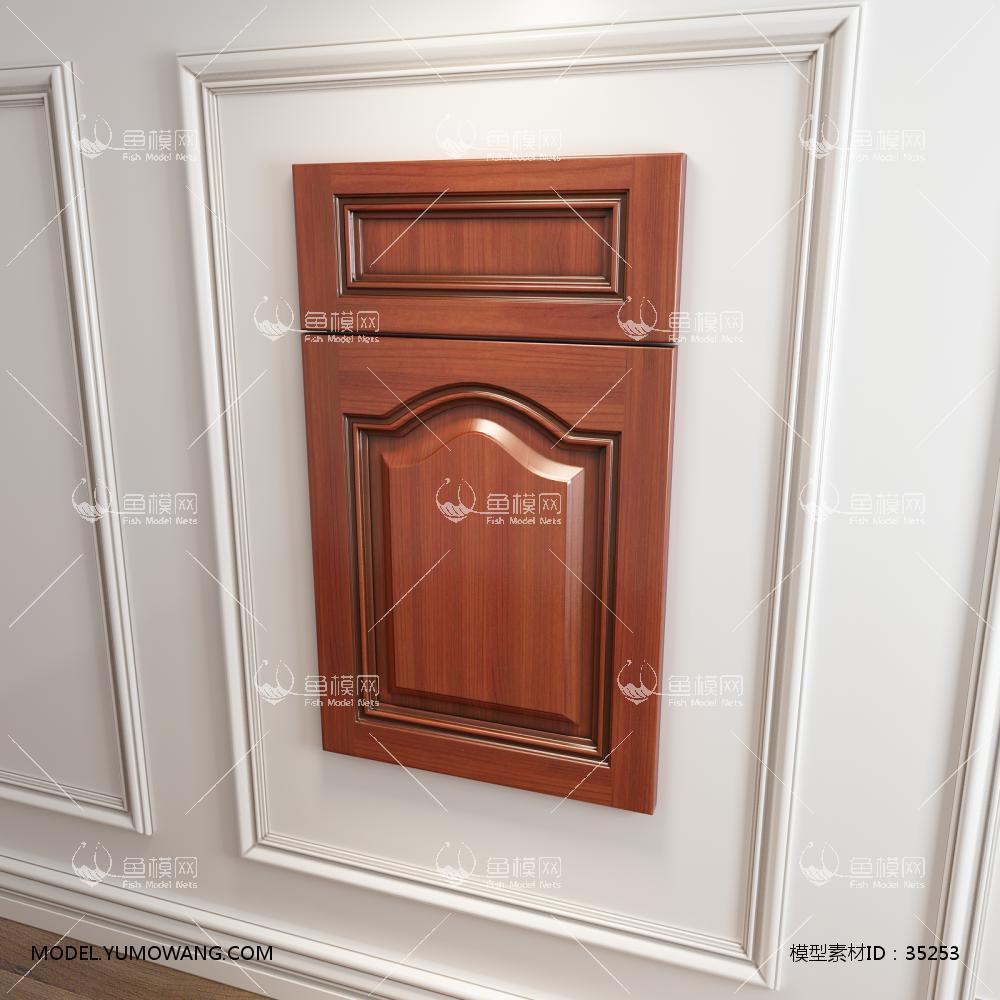 橱柜衣柜实木起拱门板门型原创3D模型下载-[ID]35253