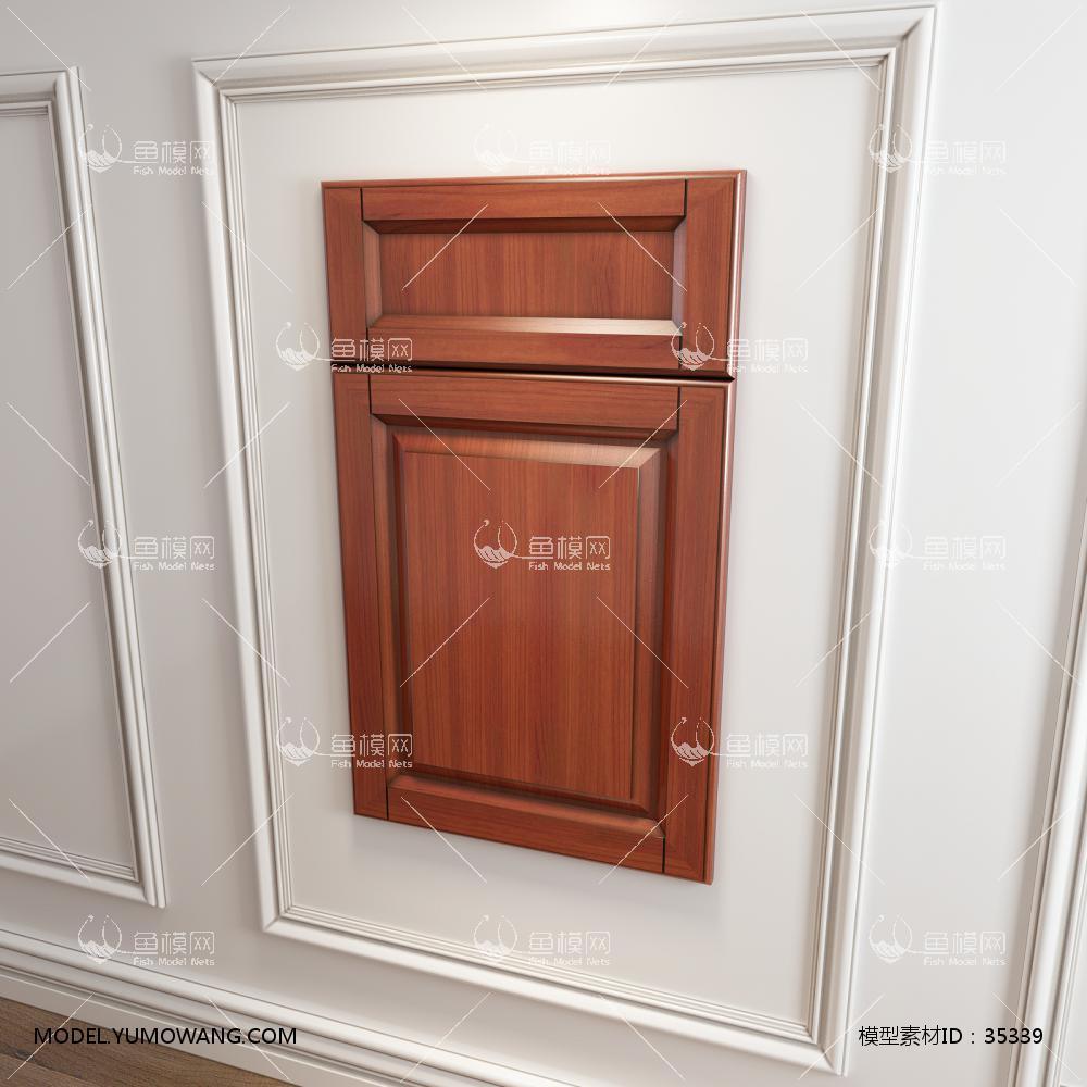 橱柜衣柜回型门板门型原创3D模型下载-[ID]35339