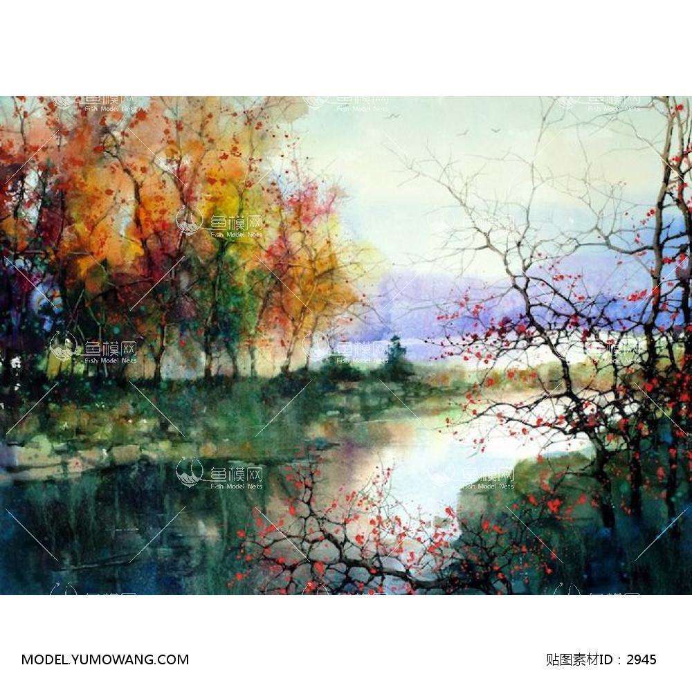 装饰画风景画风景画 (21),贴图id:2945