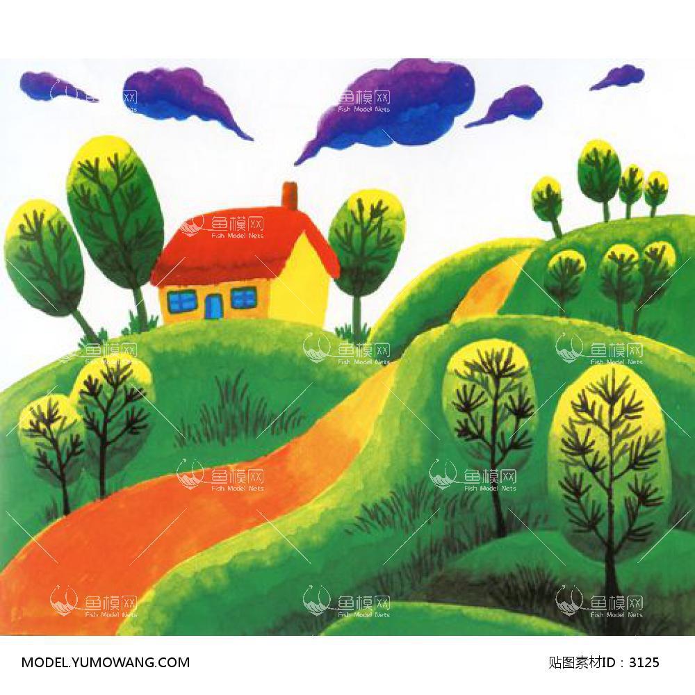 童趣卡通 (55):id3125-装饰画-童趣卡通--鱼模素材-云