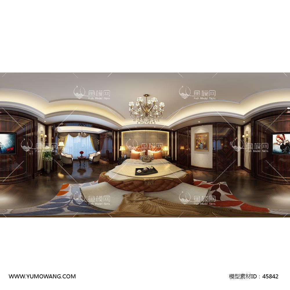 新古典卧室3D模型下载-[ID]45842