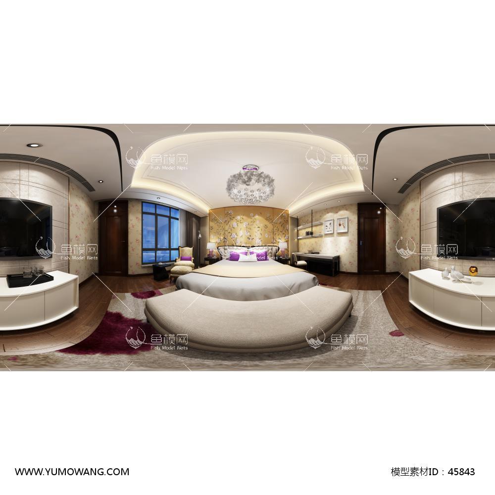 新古典卧室3D模型下载-[ID]45843