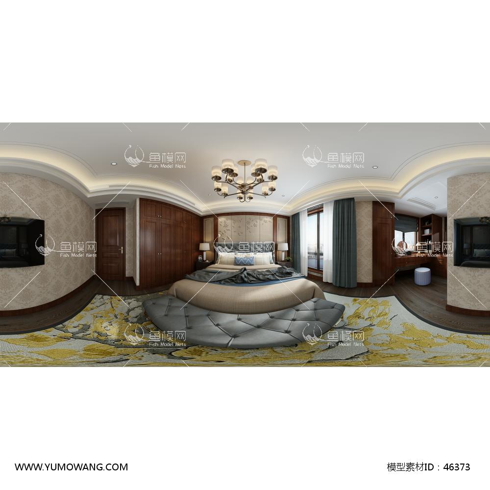 美式风格卧室3D模型下载-[ID]46373
