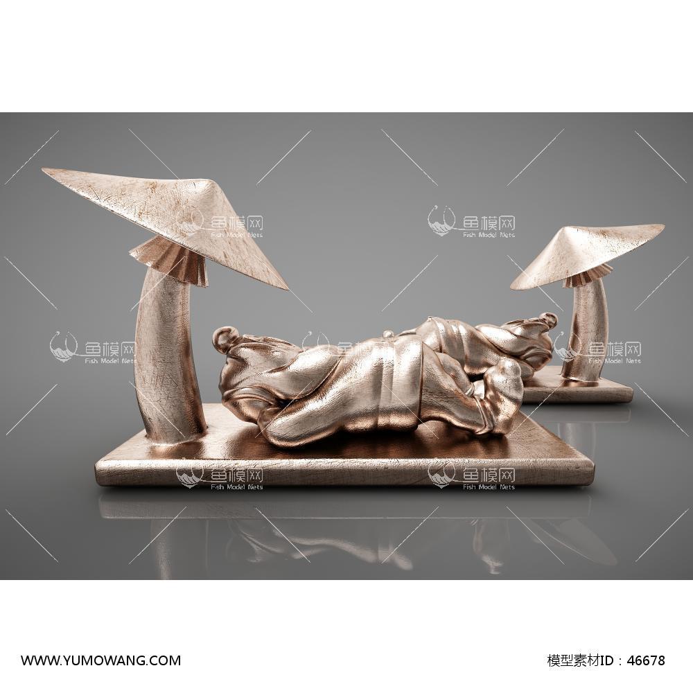 现代风格雕塑3D模型下载-[ID]46678
