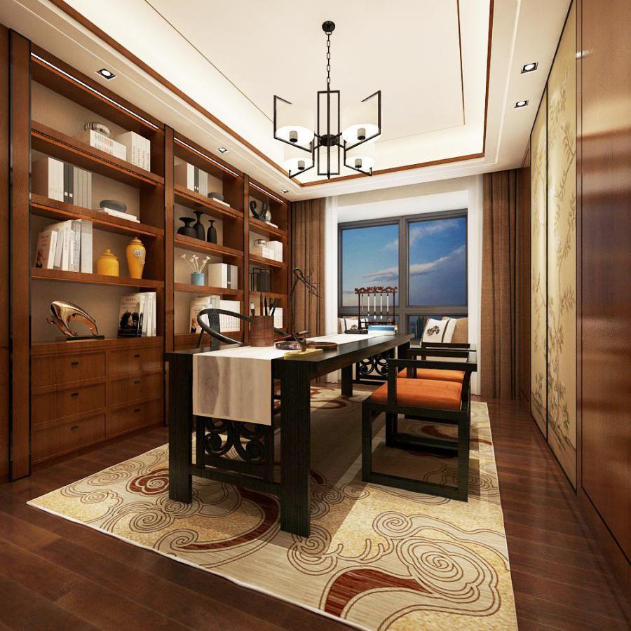 新中式书房 3D模型下载