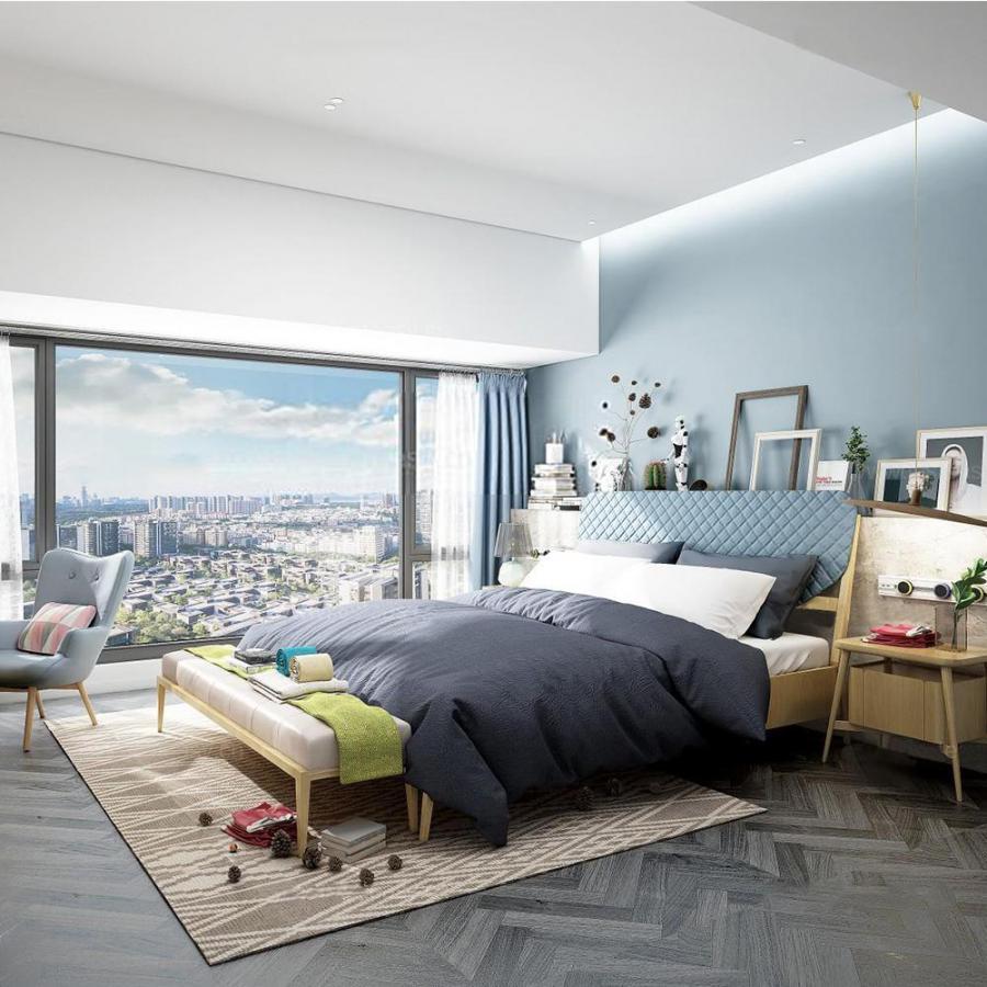 北欧卧室33d模型下载
