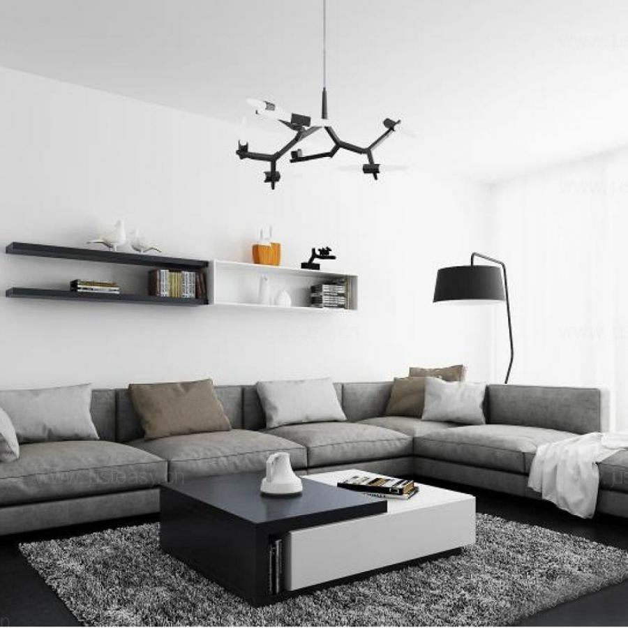 北欧转角沙发3d模型下载
