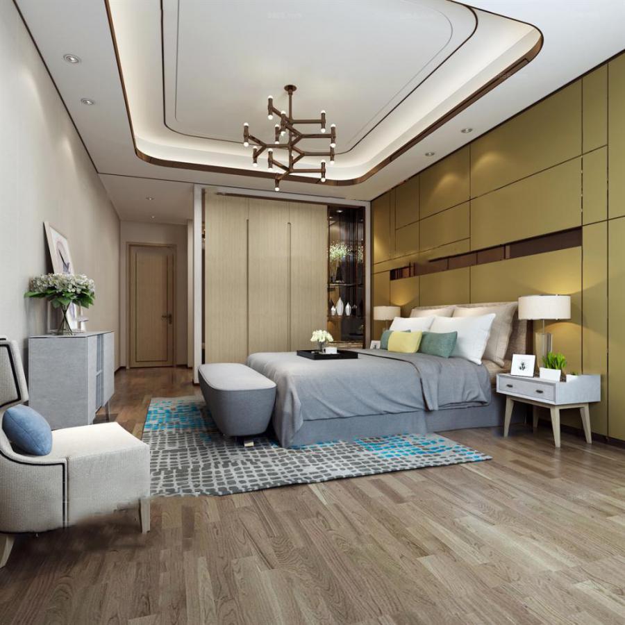 卧室空间中式风格273d模型下载