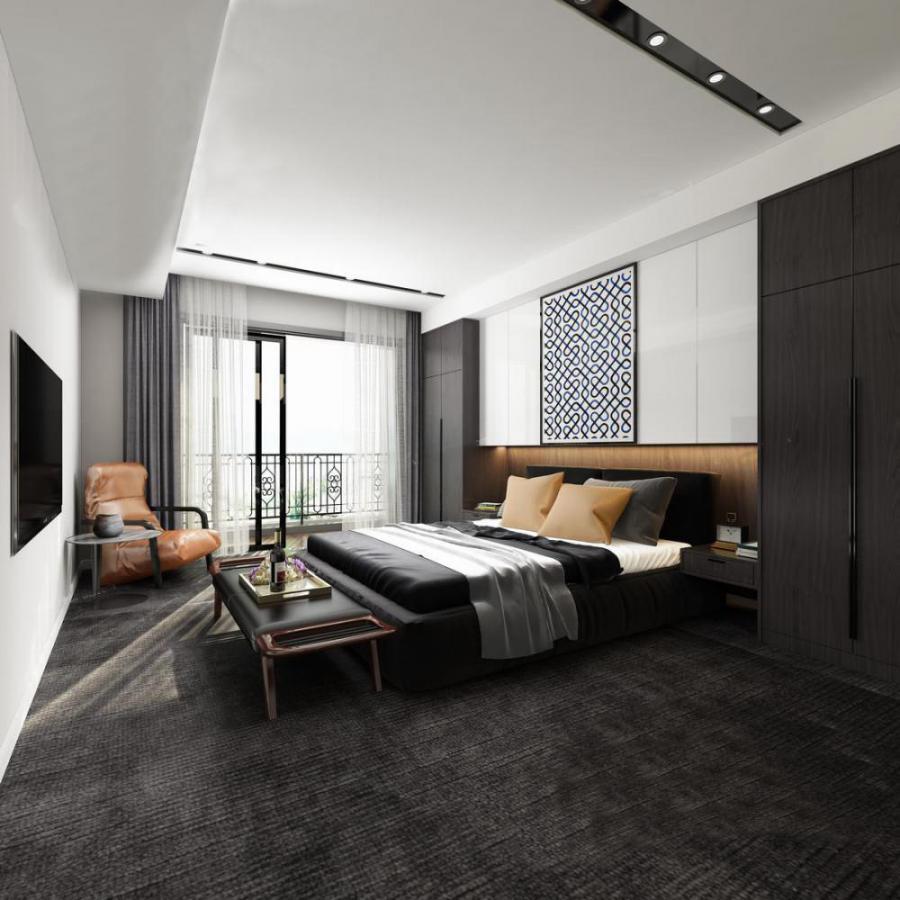 现代卧室衣柜3d模型下载