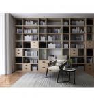 北欧书架休闲椅组合3d模型免费下载