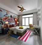 美式风格儿童房 (5)3d模型免费下载
