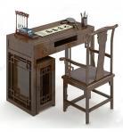 中式书桌23d模型免费下载
