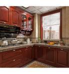 欧式定制红木厨房3D模型下载-[ID]34589