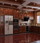 美式定制实木橱柜厨房3D模型下载-[ID]36233