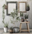现代植物类盆栽63D模型下载-[ID]43436
