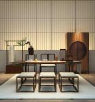 中式书桌衣柜3D模型下载-[ID]45151