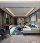 轻奢风格整体家装客厅空间3D模型下载-[ID]48934