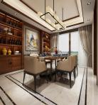 新中式风格整体家装餐厅空间3D模型下载-[ID]49443