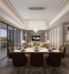 现代风格整体家装餐厅空间3D模型下载-[ID]49378