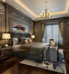 美式风格整体家装卧室空间主卧室3D模型下载-[ID]49543