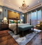 美式风格整体家装卧室空间主卧室3D模型下载-[ID]49544